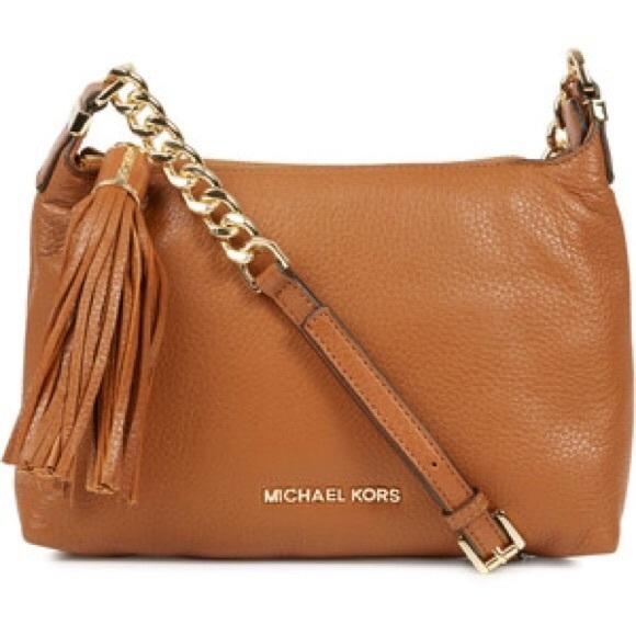Michael Kors Brown Leather Weston Crossbody Purse
